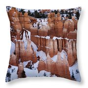 Bryce Canyon In Winter 2 Throw Pillow