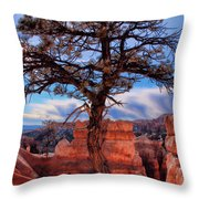 Bryce Canyon Middle Tree Throw Pillow