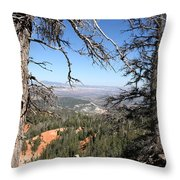 Bryce Canyon Overlook With Dead Trees Throw Pillow