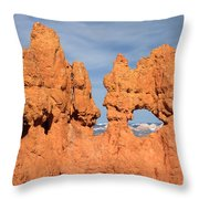 Bryce Canyon Peephole Throw Pillow