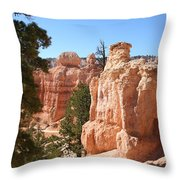 Bryce Canyon  Red Rocks Throw Pillow