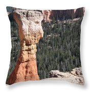 Interesting Bryce Canyon Rockformation Throw Pillow
