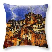 Bryce Canyon Thuderstorm Throw Pillow