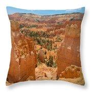 Bryce Canyon Valley Walls Throw Pillow