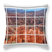 Bryce Canyon White Picture Window View Throw Pillow