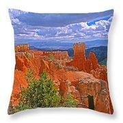 Bryce Canyon's Agua Canyon Throw Pillow