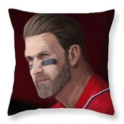 Bryce Harper Throw Pillow