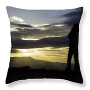 Bryce Sunrise Throw Pillow