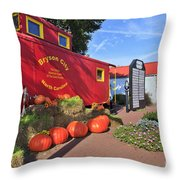 Bryson City North Carolina In The Fall Throw Pillow
