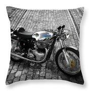 Bsa Rocket Gold Star Throw Pillow