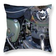 Bsa Motorcycle Throw Pillow