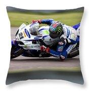 Bsb Superbike Rider John Hopkins Throw Pillow