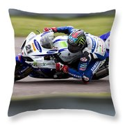 Bsb Superbike Rider John Hopkins Throw Pillow