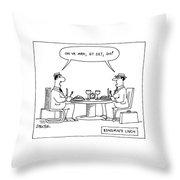 Bsnsm's Lnch Throw Pillow
