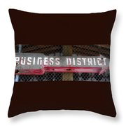 B District Throw Pillow by David Lee Thompson