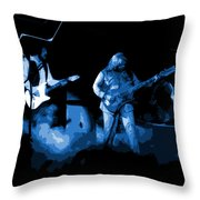 Bto In Spokane 1976 Blue Art Throw Pillow