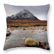Buachaille Etive Mor  Throw Pillow by Grant Glendinning