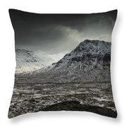 Buachialle Etive Mor Winter Mood Throw Pillow
