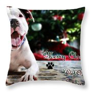 Bubba's First Christmas Throw Pillow