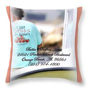 Bubbas Seafood House - Crabs Throw Pillow