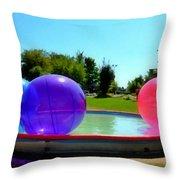 Bubble Ball 1  Throw Pillow