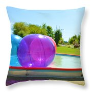 Bubble Ball 2 Throw Pillow