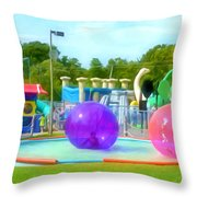 Bubble Ball 4   Throw Pillow