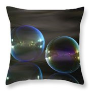 Bubble Bubble On The Water Throw Pillow