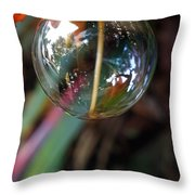 Bubble Cocoon         Throw Pillow by Kaye Menner