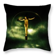 Bubble Crucifix Throw Pillow