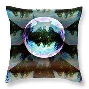 Bubble Illusion Catus 1 No 1 Throw Pillow