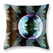 Bubble Illusion Catus 1 No 1 V Throw Pillow