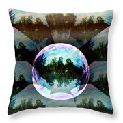 Bubble Illusion Catus 1 No 2 H Throw Pillow