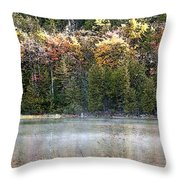 Bubble Pond Acadia National Park Throw Pillow