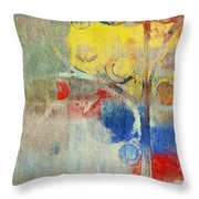 Bubble Tree - 43ff04 Right Throw Pillow