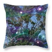 Bubble Tree Throw Pillow