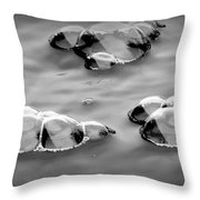 Bubbles 1 Throw Pillow