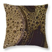 Bubbles And Metal Abstract Throw Pillow