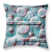 Bubbles And Stripes Throw Pillow