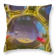 Bubbles Background Throw Pillow