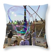 Bubbles Big Ben Throw Pillow