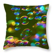 Bubbles Bubbles And More Bubbles Throw Pillow