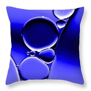 Bubbles In Blue Throw Pillow