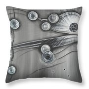 Bubbles In Grey Throw Pillow