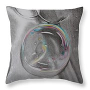 Bubbles In The Sink Throw Pillow