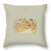 Bubbles Of Steam Amber Throw Pillow
