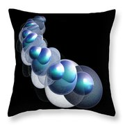 Bubbles On The Rhosddu Road Throw Pillow