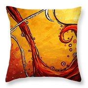 Bubbling Joy Original Madart Painting Throw Pillow