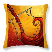 Bubbling Joy Original Madart Painting Throw Pillow