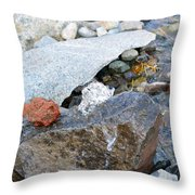 Bubbling Rock Throw Pillow